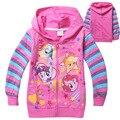 Primavera inverno meu pônei crianças pouco magro blusas meninas listrado coats casacos de bebê crianças impresso hoodies roupas de mangas compridas