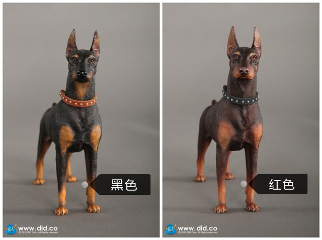 did toys 1 6 doberman pinscher black red sence for action figure