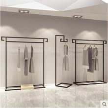 Clothing store display rack floor-standing mens and womens retro clothing