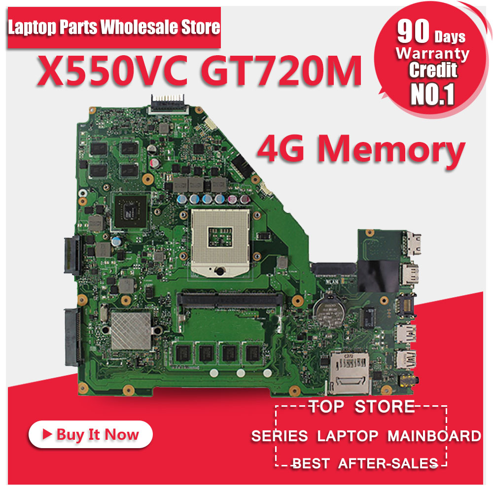 X550VC Laptop Motherboard X550VC X550CC 8 pcs chips 4GB DDR3 REV3.0 Mainboard fully tested & free shipping laptop motherboard for toshiba a205 a200 v000108040 integrated ddr2 mainboard full tested free shipping