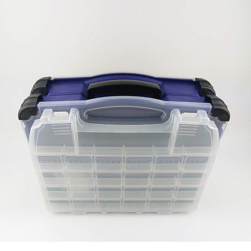Multifonctionnel haute résistance 38*17*32 cm Transparent Visible en plastique boîte de leurre de pêche boîte de matériel de pêche boîtes 3 couleurs - 2