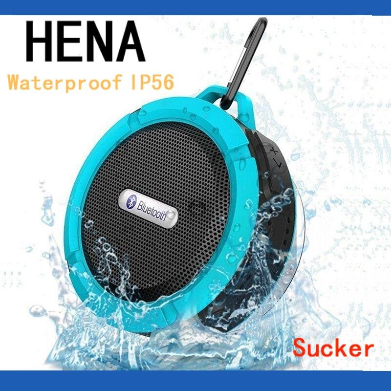 HENA Waterproof IPX56 sucker bathroom bluetooth wireless speaker handfree portable speaker for Iphone Samsung Huawei All