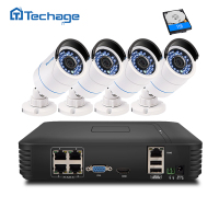 8CH 1080P POE NVR Kit 48V Real Poe Nvr W 8pcs Full HD 1080p Ip Camera