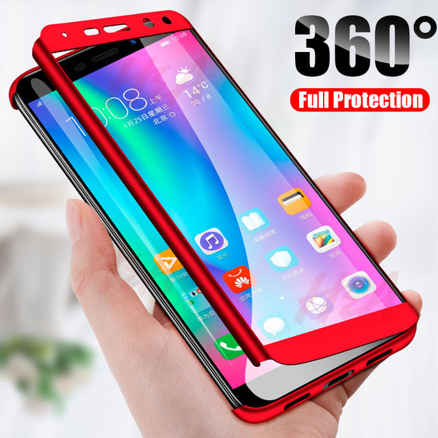 H&A 360 Full Coverage Phone Case For Huawei Y5 Y6 Y7 2018 2017 PC Protective Cover For Huawei Y7 Y6 Prime Fundas Capa Case