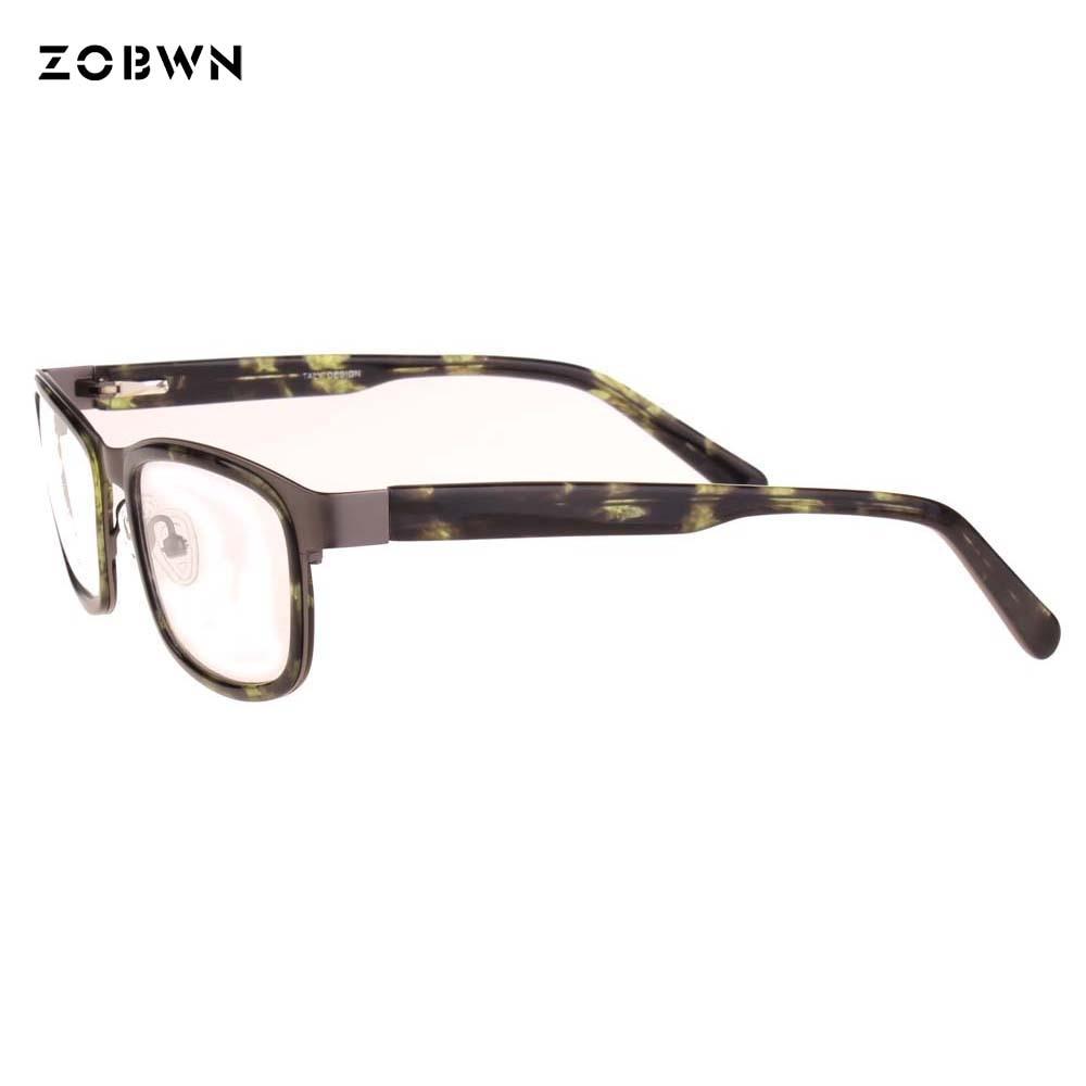 Punkt Flexible De Brille Platz Masculino Objektiv Rahmen Gläser Rezept Oculos Grau Setzen Großen Männer Acetat Mode Können z7xww
