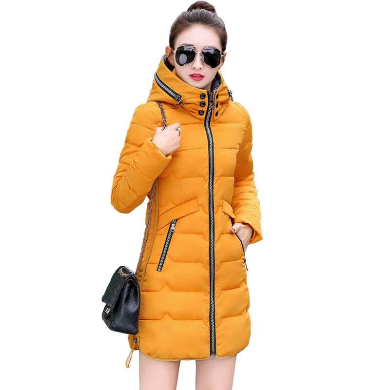 Зимняя куртка Женская куртка-парка пальто плюс Размеры 6XL 7XL теплая плотная куртка верхняя одежда пальто с капюшоном тонкий пуховик хлопков...