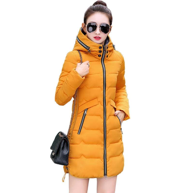 6XL 7XL 冬のジャケットの女性パーカーコート大サイズ暖かい厚手のジャケット女性付き冬ダウン綿のコートパッド入り q943  グループ上の レディース衣服 からの パーカー の中 1