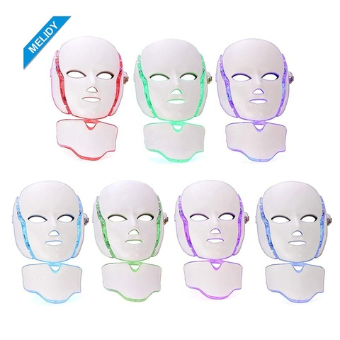7 cores led m scara facial terapia m quina de m scara facial f ton