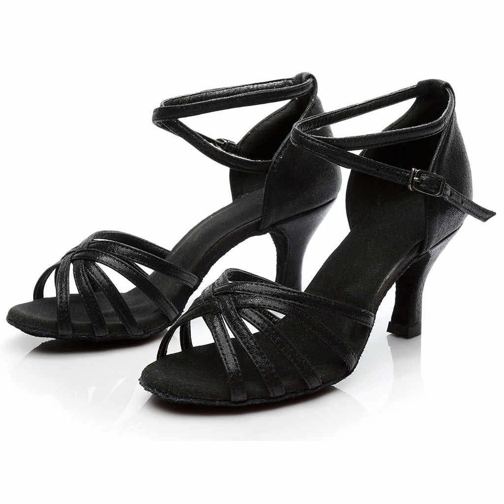 Mùa Hè Năm 2019 Bán Phụ Nữ Thời Trang Nhảy Múa Rumba Ví Dạ Hội Phòng Khiêu Vũ Latin Nhảy Salsa Giày Sandal Màu Giày