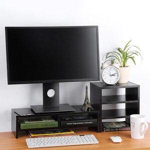 Image 3 - Bảo Vệ Cột Sống Và Cổ Máy Tính Laptop Tăng Lên Màn Hình Đứng Với Sắp Xếp Lưu Trữ Bằng Gỗ Bàn Máy Tính