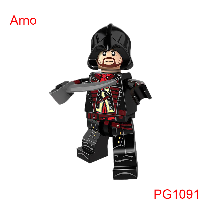 Pg1091 Single Sale Assassins Creed III Arno Building Blocks Education Diy Model Bricks Toys For Children