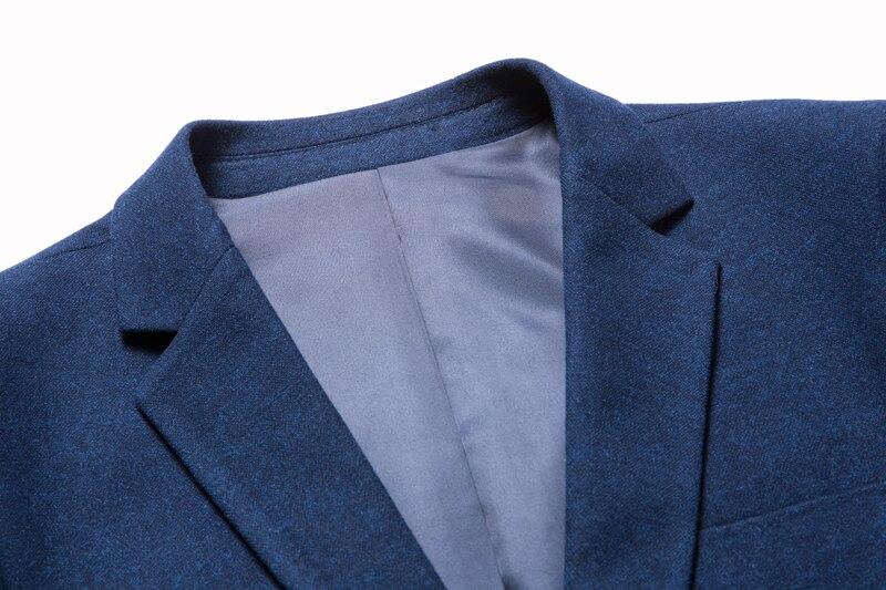 Robe Blazer Costume Hommes Mode Printemps Qualité De Vie Repasser Non Affaires Pour Marque Automne Haute Gent Occasionnels Bleu Mâle Blue À Bqn6SdZq