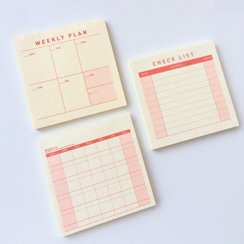 60 stron prosty tygodniowy miesiąc planer lista kontrolna notatniki artykuły papiernicze Do zrobienia notatniki szkolne materiały biurowe
