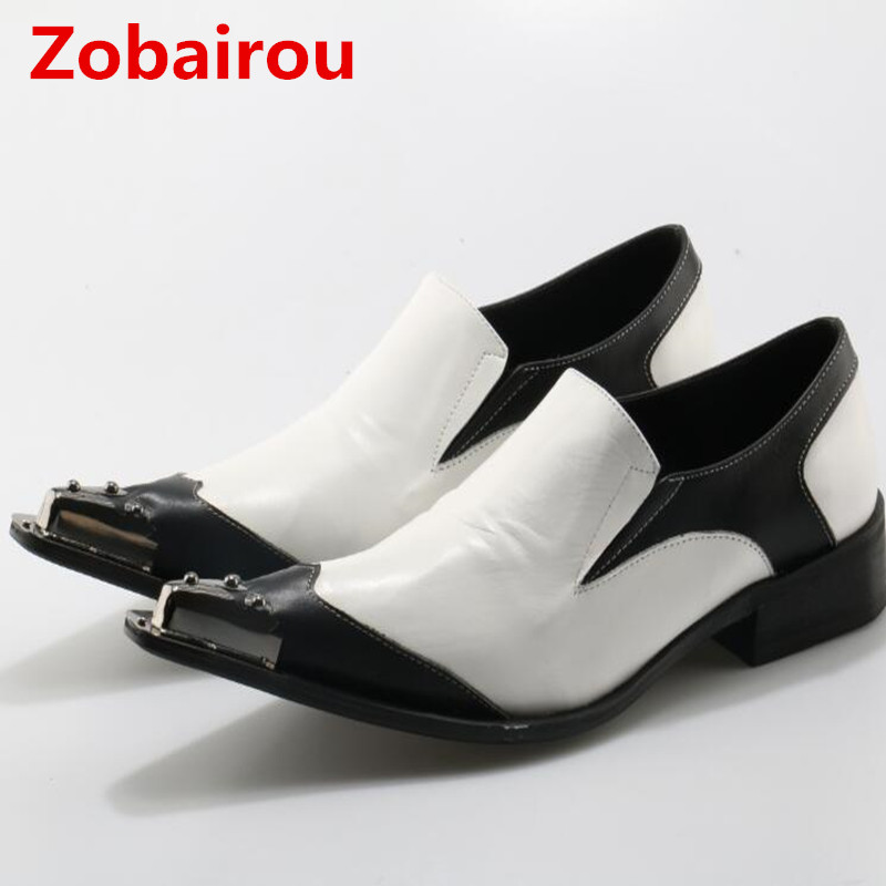 Zobairou Luxury Brand Mens Dress Italian Leather Shoes Studded Men Loafer Shoes White Gold Striped Dress Shoes MenZobairou Luxury Brand Mens Dress Italian Leather Shoes Studded Men Loafer Shoes White Gold Striped Dress Shoes Men