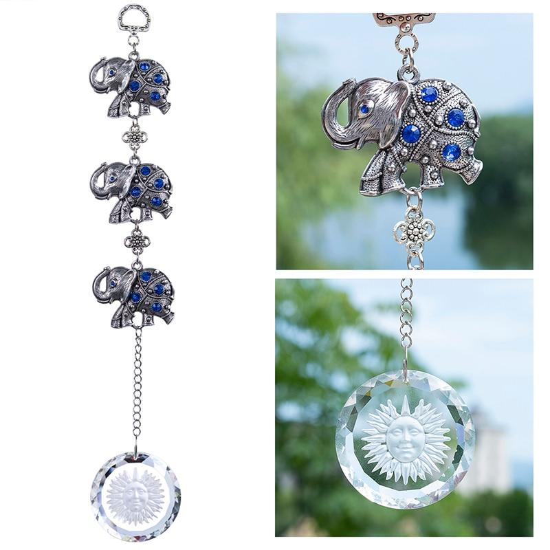 Suncatcher Crystal Ball 30mm Hanging Lucky Evil Eye Ornament Blessing Car Decor