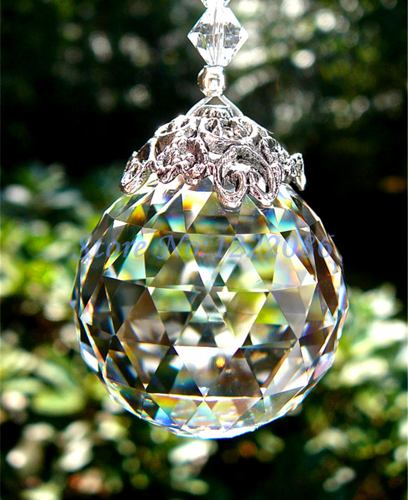 Huge 100mm Crystal Glass Faceted Sphere Hanging Crystal Ball Sun catcher Feng Shui Free Shipping david kennedy daniel feng shui for dummies