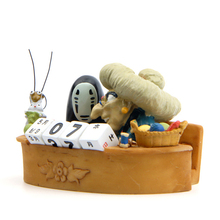 Anime ( thousands of search) no face male soup mother-in-law calendar car swing car decorated with doll with antiskid pad figure(China)