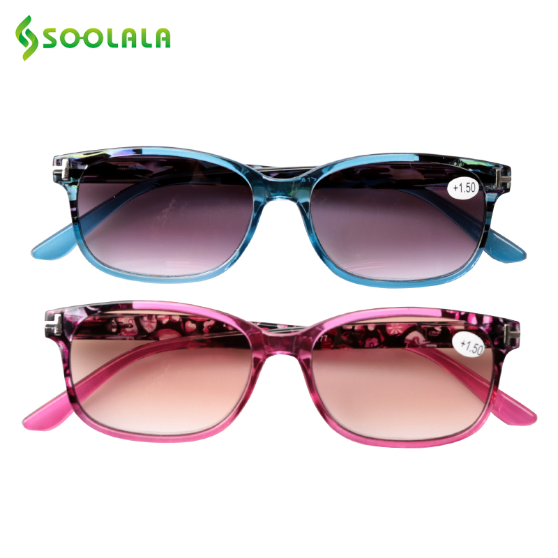 SOOLALA Sunglasses Reading Glasses Women Men Magnifier Diopter Eyeglasses +1.0 1.5 2.0 2.5 3.0 3.5 4.0
