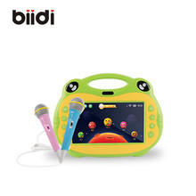 Android 5.1 7″ 8G 512M Kids karaoke tablet two microphone support connect with TV singing learning with pink and green color