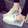 2017 New Women Canvas Shoes Fashion Espadrilles Slip-On Flat Casual Canvas Loafers Shoes Floral Print Lace Shoes Woman