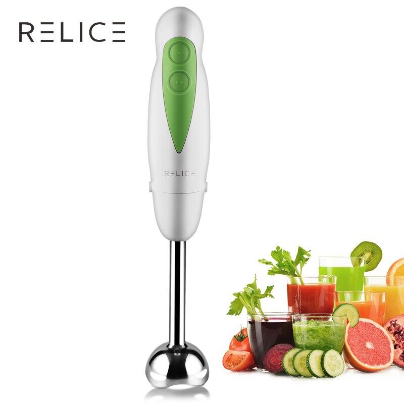 RELICE eléctrica de mano de licuadora dos engranajes botón vegetal de la fruta de licuadoras Multi funcional cocina de inmersión de mano