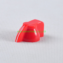 10pcs Colorful Rotary Volume Red Control Vintage Plastic Knob 32x14mm for 6.35mm Shaft