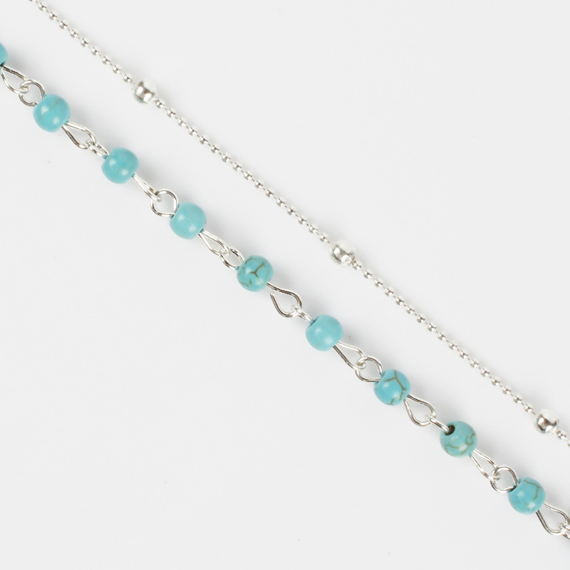 New Beads Double Layered Choker Chain Necklace Women Exquisite Clavicle Short Necklace Jewelry in Choker Necklaces from Jewelry Accessories