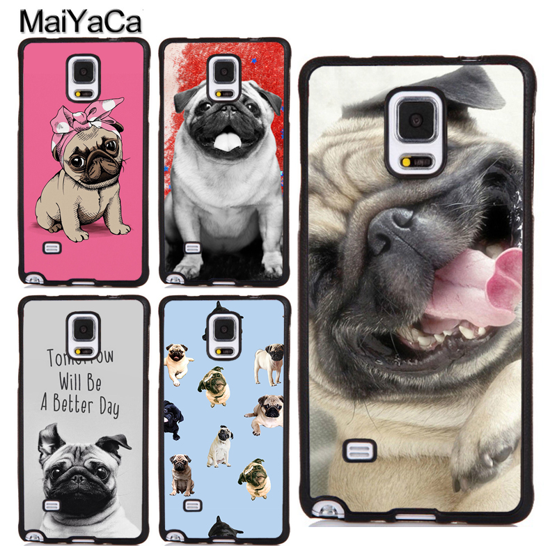 MaiYaCa CUTE PUPPY PUG DOG MOPS TPU Cover For Samsung Galaxy S4 S5 S6 S7 Edge S8 S9 Plus Case For Samsung Note 4 5 8 Case Cover ...