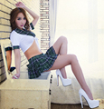Green red students Cosplay Game Play Vintage Schoolgirl uniform temptation costume Fashion Style Womens Sexy School Uniforms