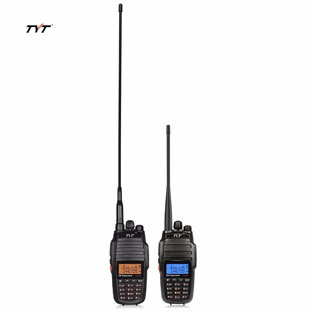 1 Pair TYT TH UV8000D protable Transceiver & 2 Gain Antenna LCD U/V Dual Band Display Standby ham Interphone 10W Walkie Talkie