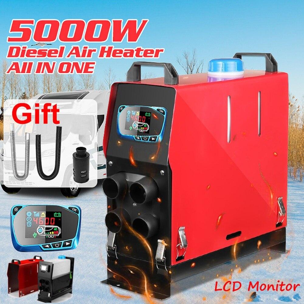 5000 W Aria diesel Riscaldatore 5KW 12 V 4 Fori di richiamo Auto Riscaldatore Per Camion Del Motore-Casa Barche Bus + LCD Interruttore A chiave
