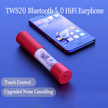 TWS HiFi Wireless Bluetooth Earphone 5.0 Sport In Ear Headphones Bluetooth Headset Noise Canceling Headphone with Mic Silver bluetooth cordless phone headset clip on ear headphone bluetooth earpiece noise canceling earphone with mic bluetooth safe