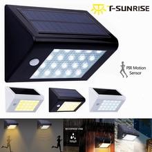 T-SUNRISE 20 LED Outdoor Lighting Waterproof Solar Powered PIR Motion Sensor LED Security Spotlight Wall Light Outdoor Garden