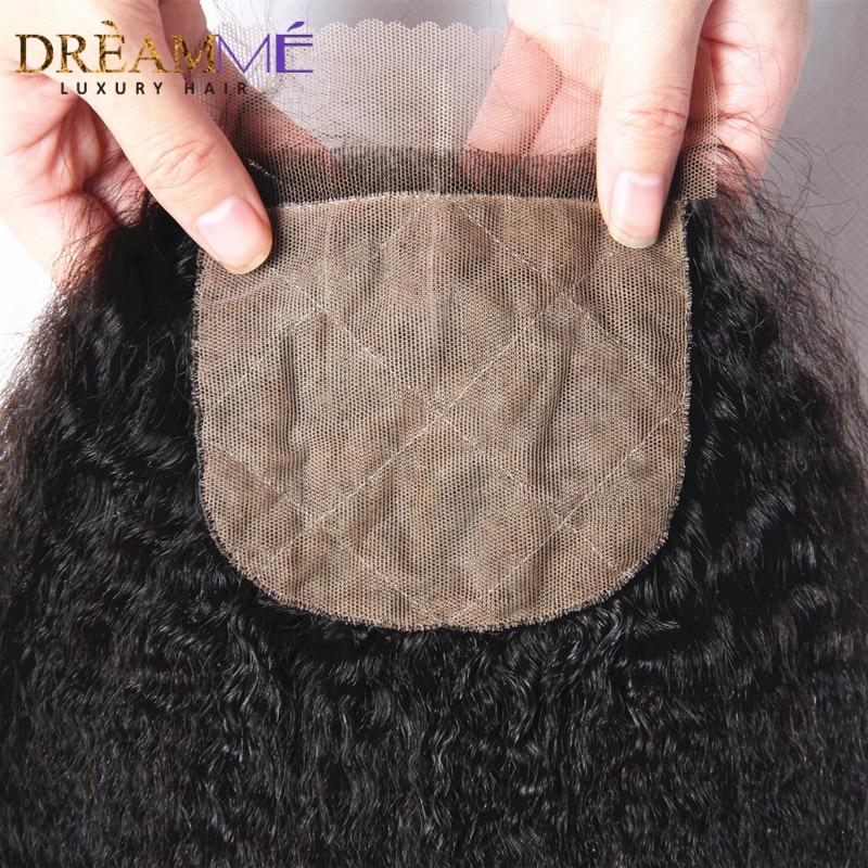 Dreamme Cheveux Crépus Droit Remy Brésilien Cheveux Humains Soie - Cheveux humains (noir) - Photo 3