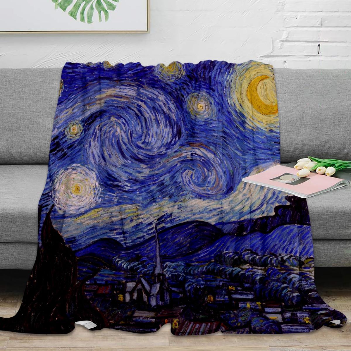 Starry Night Throw Blanket Vincent Van Gogh
