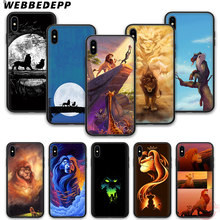 WEBBEDEPP Moonlight Lion King Moon Lions Simba soft silicone phone case for iPhone 5 6 7 8 Plus X XS XR XS Max.11 11peo 11proMax(China)