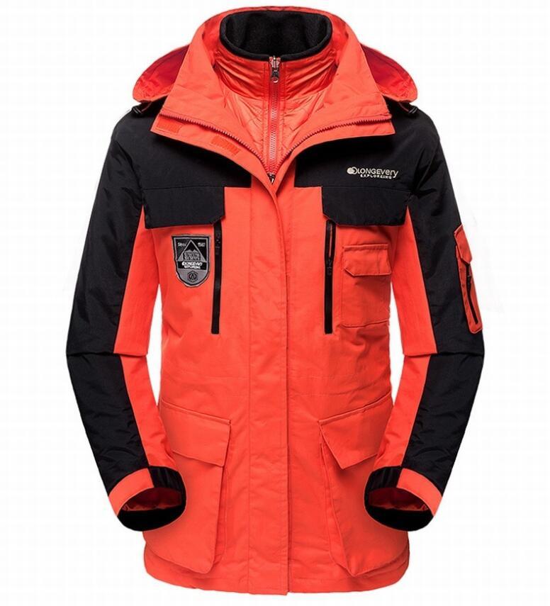 Hiver Camping en plein air randonnée vestes hommes 3 en 1 imperméable coupe-vent veste de ski hommes épais chaud résistant au froid coupe-vent manteaux