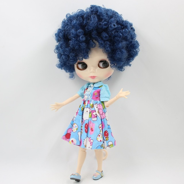 ICY Neo Blythe Doll Afro Blue Hair Jointed Body