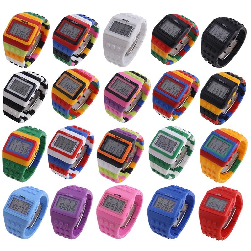 Hot Children's Watches Digital LED Chic Unisex Colorful Constructor - Barneklokker - Bilde 5