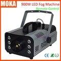 1 шт./лот высокое качество LED 900 Вт Машина Тумана Мини 900 Вт RGB LED Дым Машина dj Этап Спецэффекты оборудование