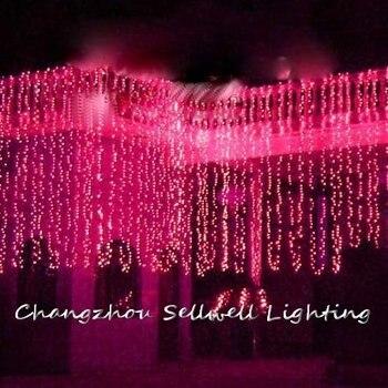 Отличный! Праздничный светильник для отеля, свадебное украшение 3*6 м, красный светодиодный светильник H276