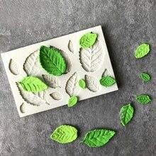 새로운 도착 로즈 나뭇잎 실리콘 비누 금형 주방 액세서리 케이크 금형 gumpaste 캔디 쿠키 도구 퐁당 케이크 장식