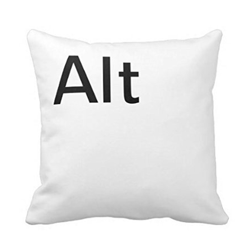 Luxury printing alt ctrl del computer key funny pillow cover soft