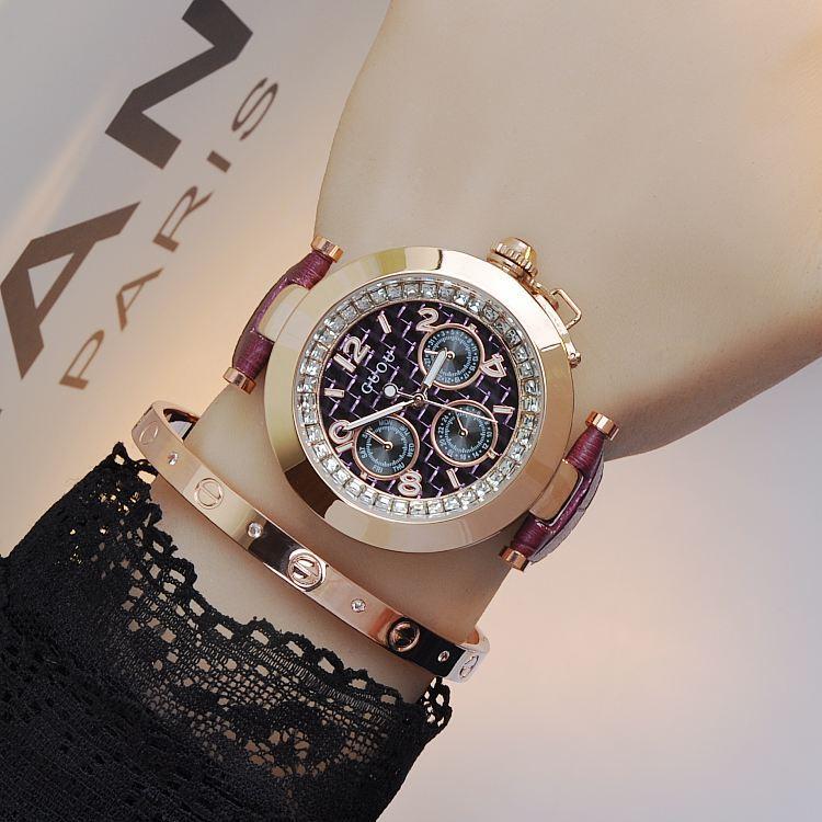 Relojes de marca de lujo moda Cuero auténtico diamante Correa tendencia del mercado estudiante relojes de moda