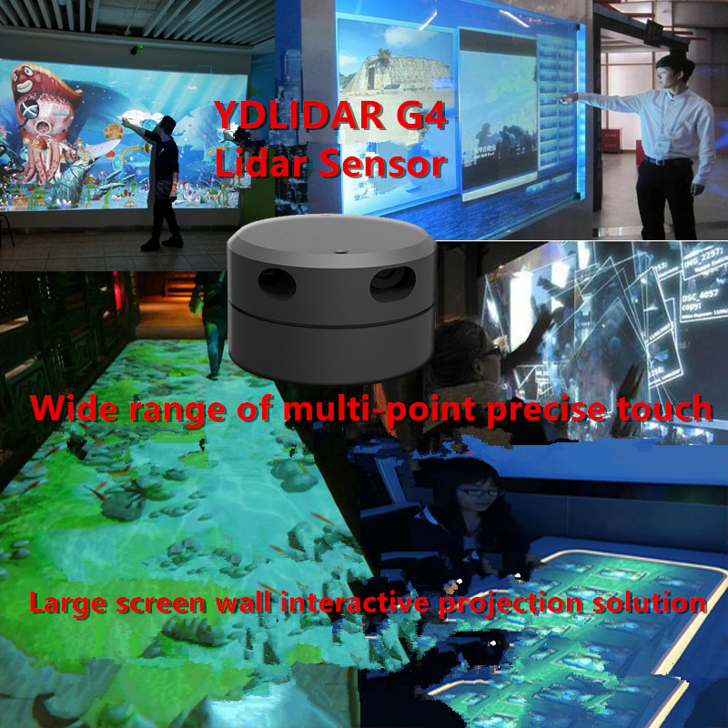 EAI YDLIDAR G4 Lidar Multi-touch Screen Animation Large-screen Interactive System Solution Large-screen Interactive System Suite