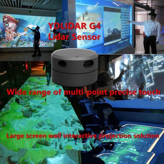 Eai ydlidar g4 lidar 멀티 터치 스크린 애니메이션 대형 스크린 대화 형 시스템 솔루션 대형 스크린 대화 형 시스템 스위트