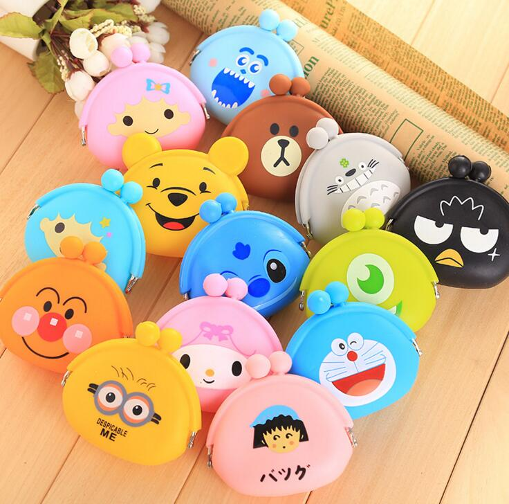 Children Kids Gifts Animals Girls Silicone small mini Coin Bag mini Coin Purse change wallet purse women key wallet coin Wallet ...