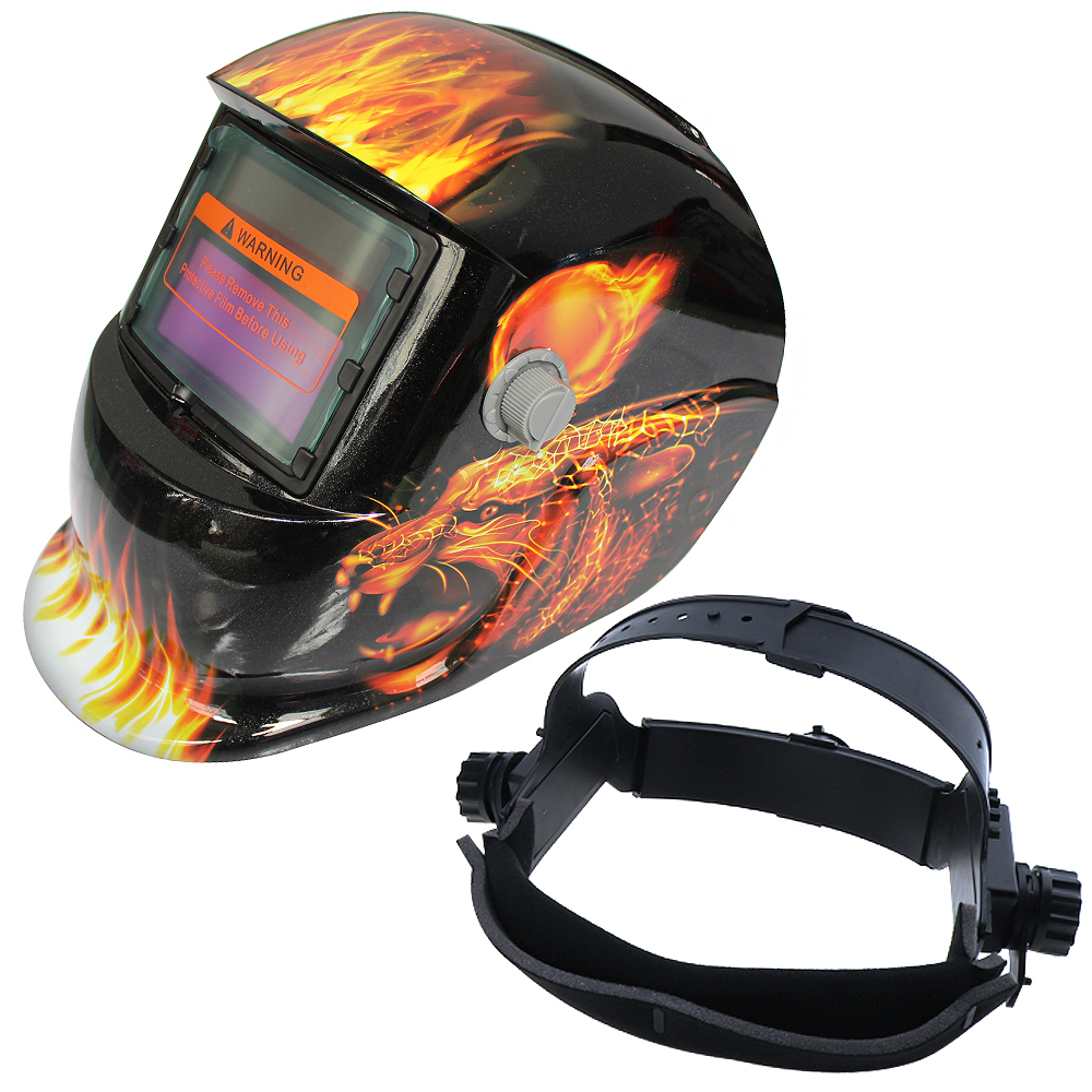 Leopard Pattern Adjust Solar Auto Darkening TIG MIG Grinding Welding Helmets / Face Mask / Electric Welding Mask Cap ck tech auto darkening welding helmets electric welding hood mask tig mig arc welding face shields optical filter 3116