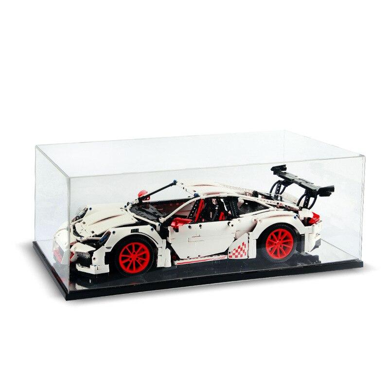 Galleria fotografica Di alta acrilico trasparente casella di visualizzazione Modello di Copertura Su Misura giocattolo antipolvere scatola <font><b>legoingly</b></font> <font><b>technic</b></font> 42056 20001 20001B auto