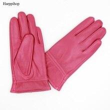 Зимние теплые перчатки из натуральной кожи для детей; теплые милые перчатки из натуральной кожи; Новинка года; варежки из натуральной кожи